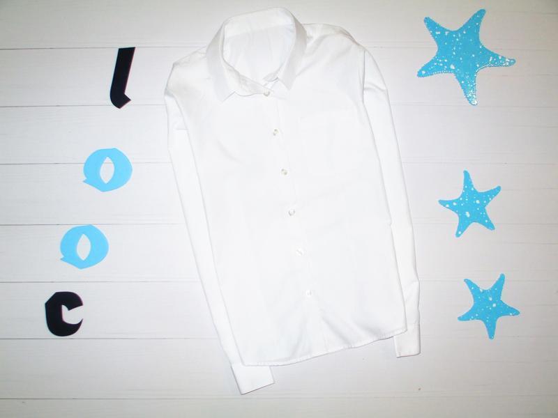 Рубашка белая george на 10-12л