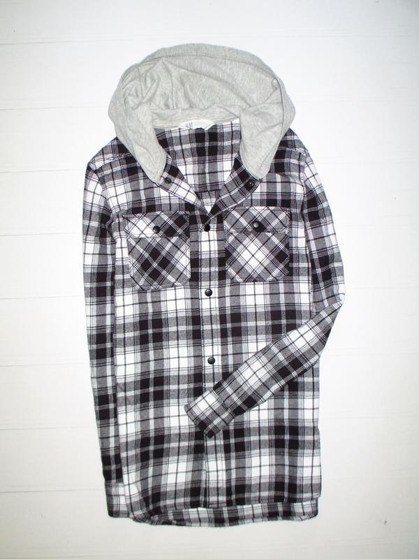 Плотная рубашка h&m на 11-12лет