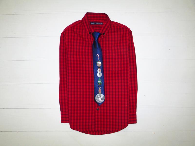 Рубашка next на 5лет + музыкальный галстук 🎄❄️