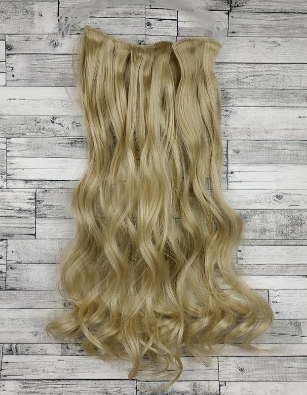Трессы волосы на заколках блонд 16-613 3832 на клипсах набор в...