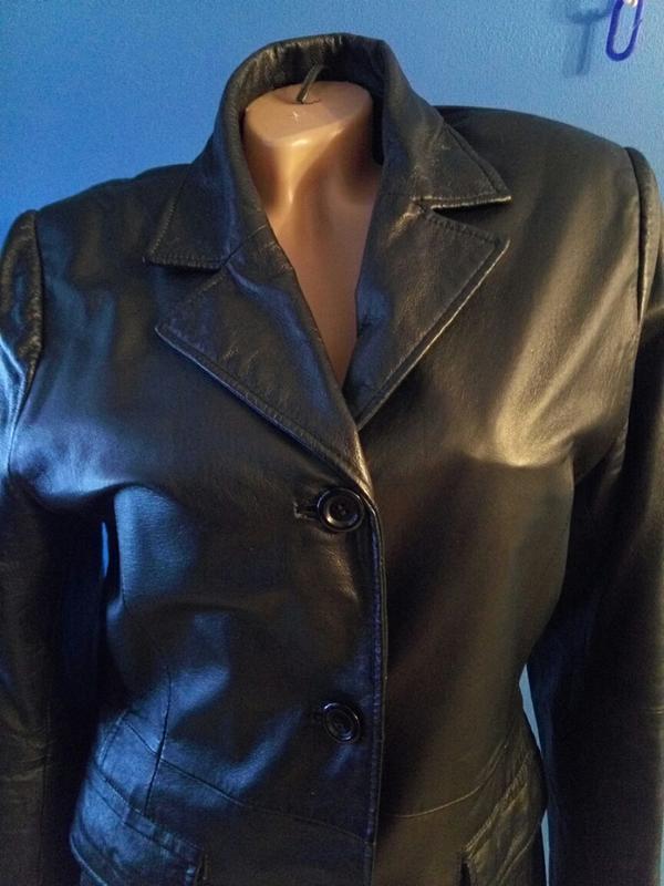 Кожаный пиджак куртка тренч