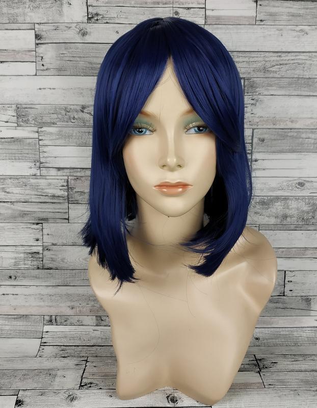 Парик каре темно-синий 3638