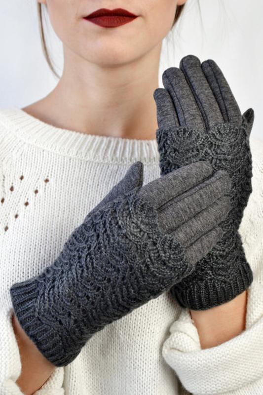 Перчатки ( митенки ) зимние, ажурные.  в наличии.