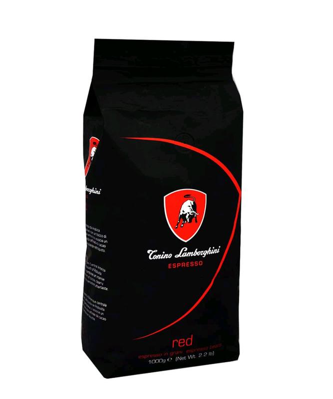Кофе Lamborghini RED Intenso Blend Coffee Beans 2.2 lbs (1000gr)