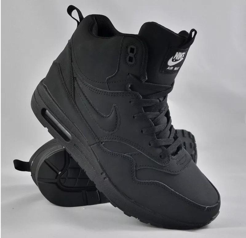 Зимние мужские кроссовки с мехом Nike Air Max Black