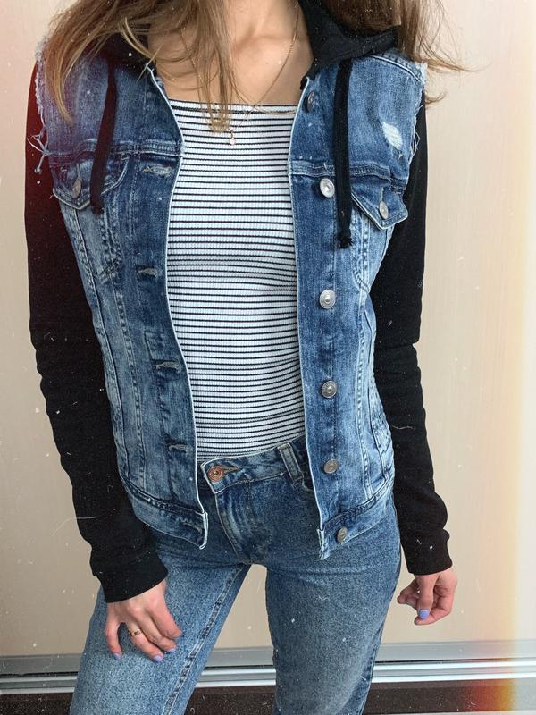 🌿 джинсовая куртка   джинсовка с капюшоном