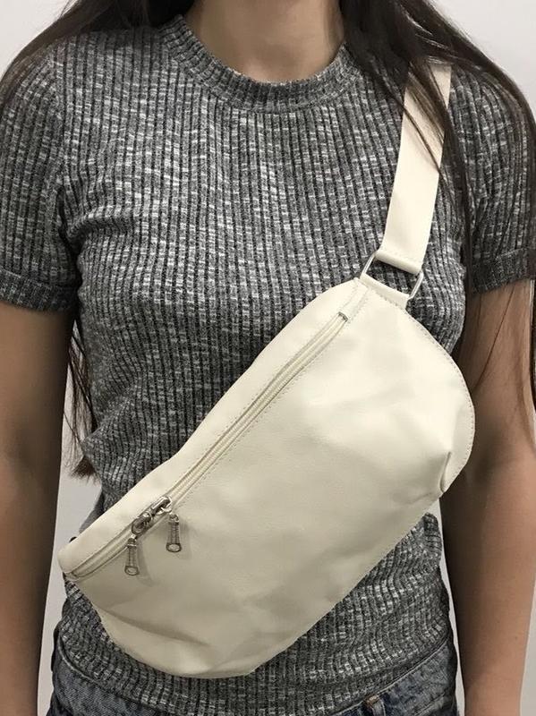 Поясная сумка ( бананка) из натуральной кожи