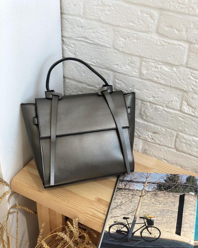 6 цветов! серебро металлик классическая сумка с ремешками