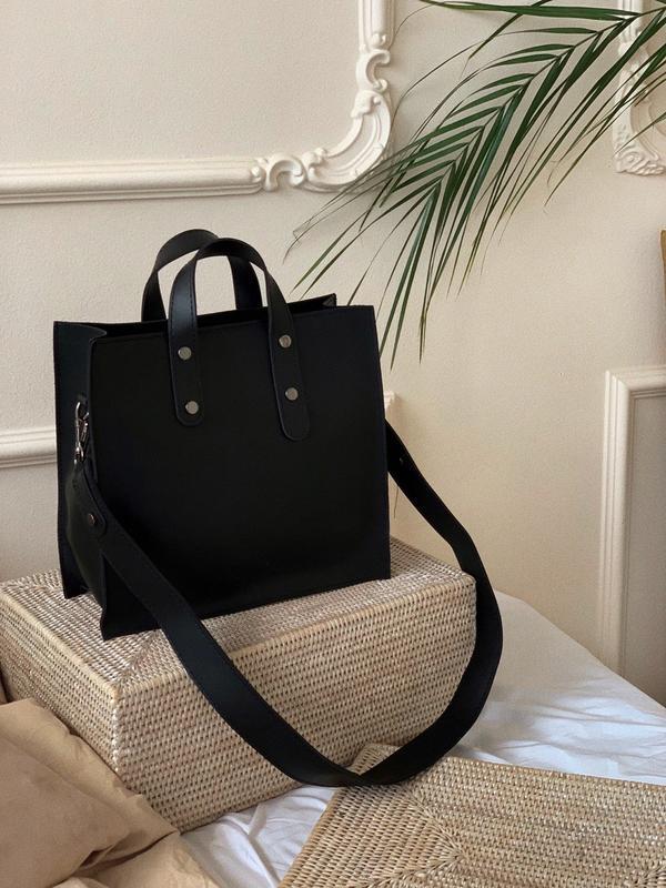 9 цветов! сумка черная классическая широкий ремешок шоппер