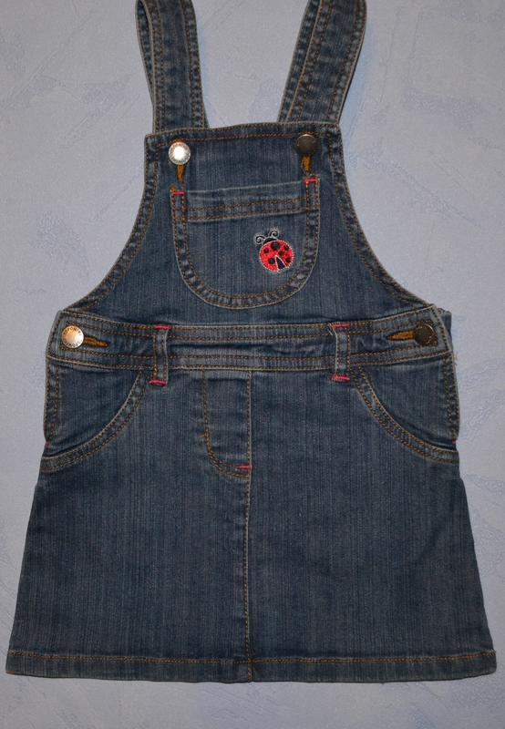 Р. 86 см. джинсовый сарафан topomini