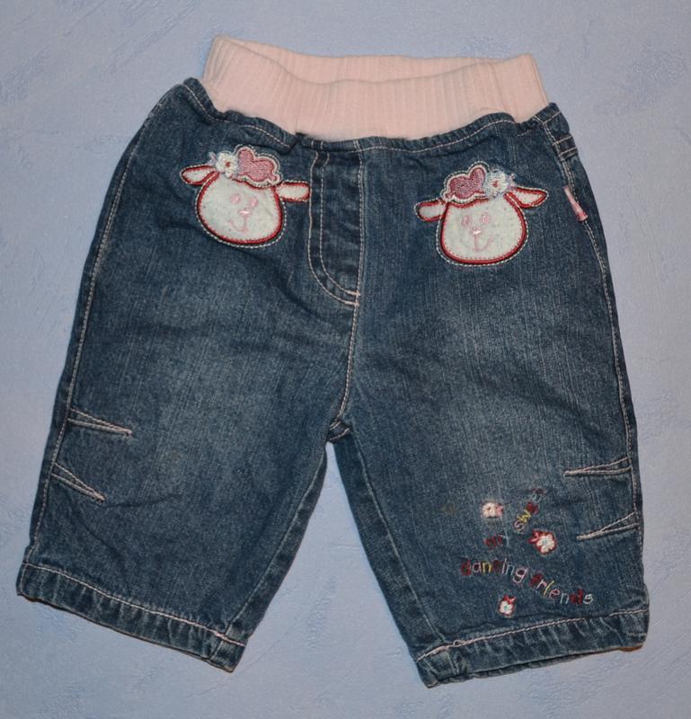 Р. 62 см джинсы на подкладке