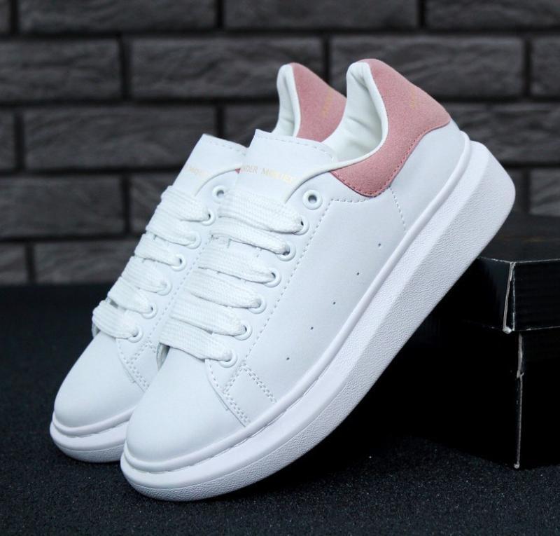 Кроссовки женские alexander mcqueen white pink 36-41р.
