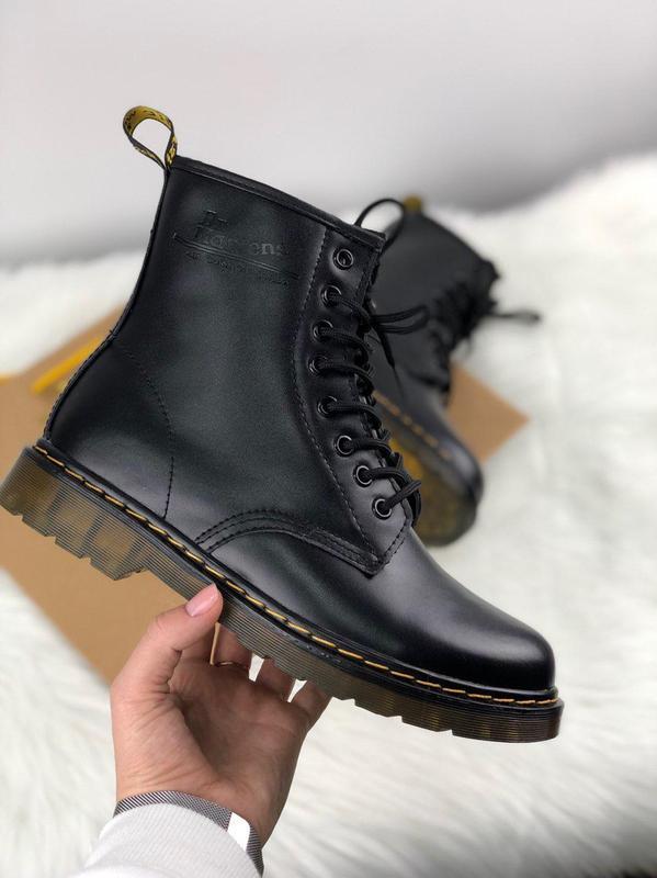 Женские зимние ботинки dr. martens 1460 black 36-45р.