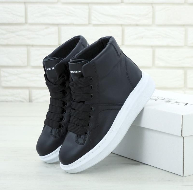Женские кроссовки alexander mcqueen high black