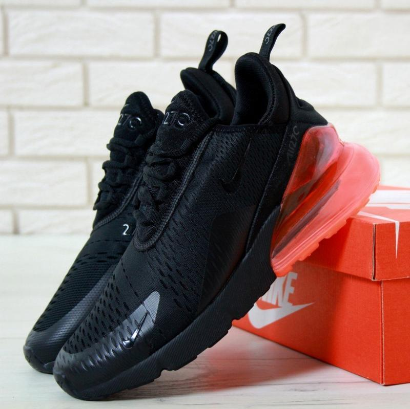 Кроссовки nike air max 270 black hot punch