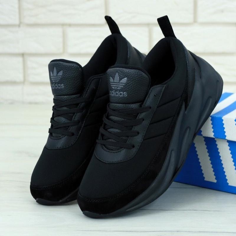 Кроссовки adidas sharks boost triple black