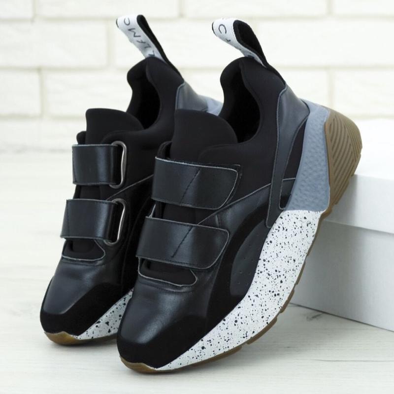 Женские кроссовки stella mccartney eclypse black sneakers