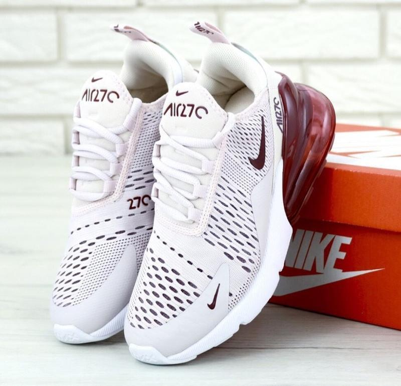Женские кроссовки nike air max 270 barely rose
