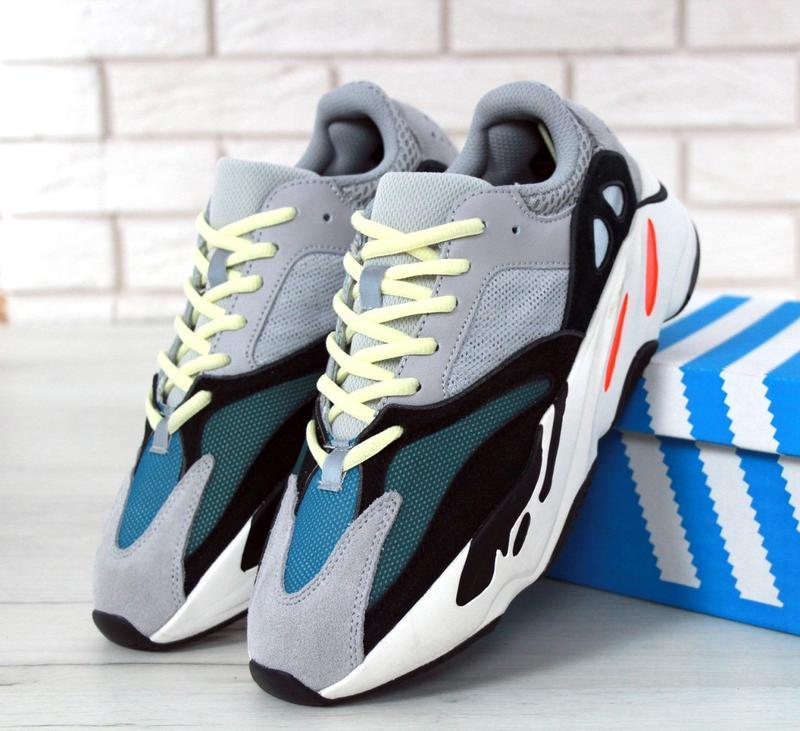 Женские кроссовки adidas yeezy boost 700 wave runner solid grey