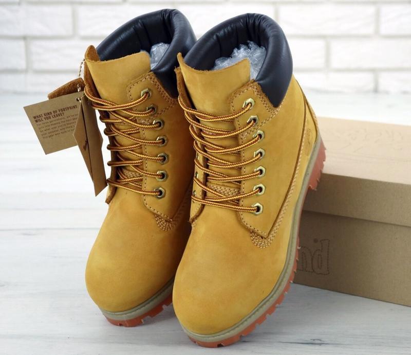 Женские ботинки timberland wheat без меха
