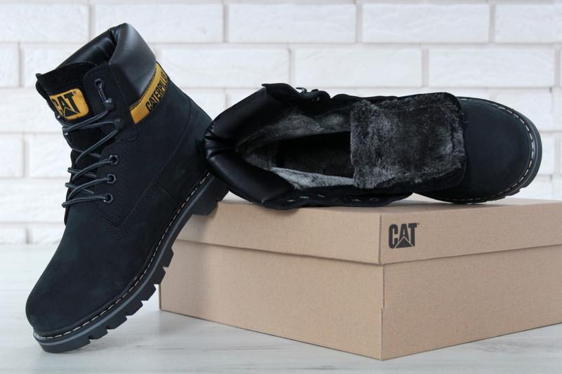 Мужские ботинки caterpillar colorado black искусственный мех - Фото 4
