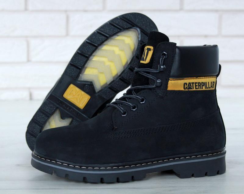 Мужские ботинки caterpillar colorado black искусственный мех - Фото 6