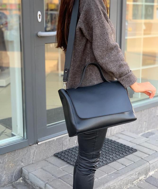 6 цвета! черная классическая сумка с широким ремешком