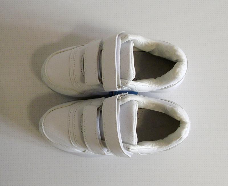 Кроссовки белые led подсветка на 33-34 размер - Фото 5