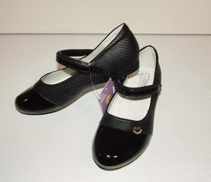 Черные детские туфли для девочек том. м 27 разм