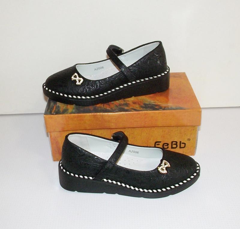 Туфли для девочек черные качественные 31-35