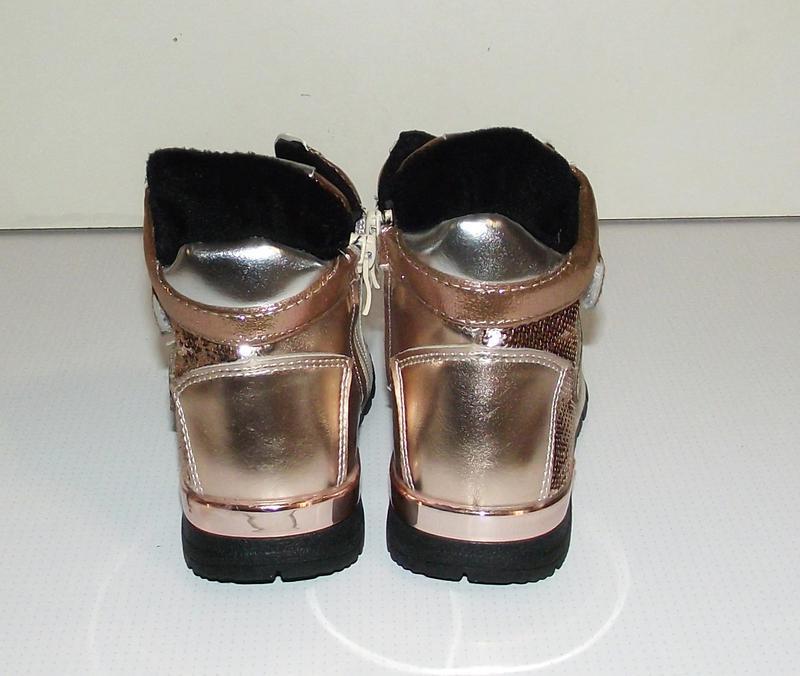 Ботинки кроссовки демисезонные для девочек золотистые 29р