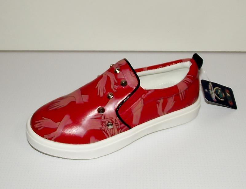 Отличные модные слипоны, туфли, мокасины красные. хит