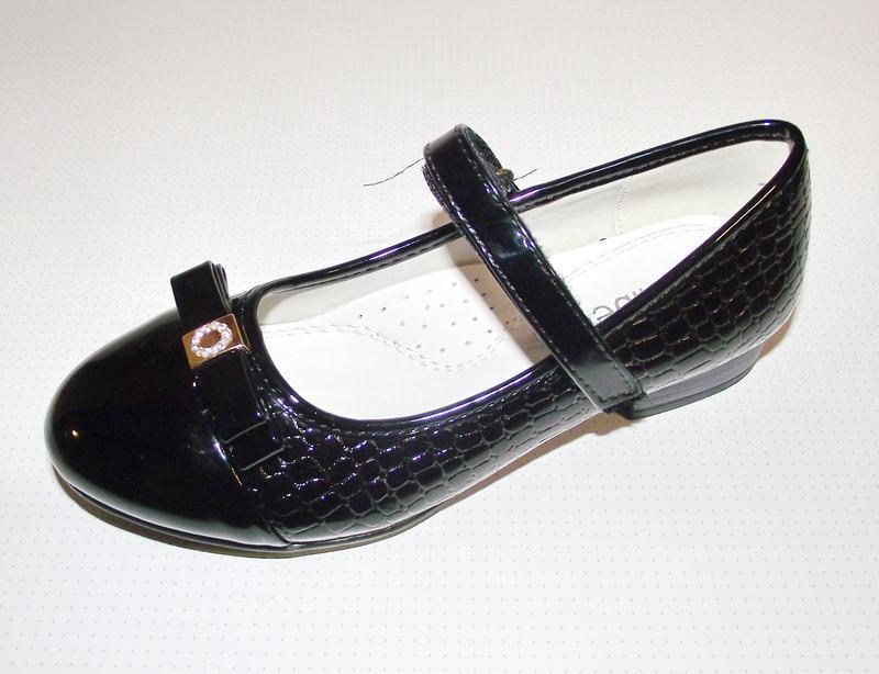 Черные детские туфли для девочек clibee румыния 35р