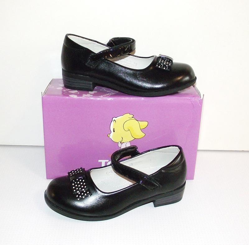 Черные школьные детские туфли для девочек том 28-33