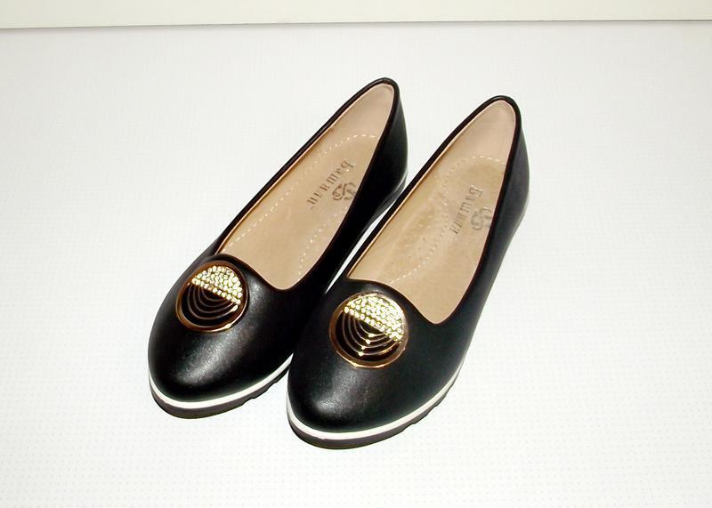 Туфли слиперы балетки для девочек черные 30 - 36