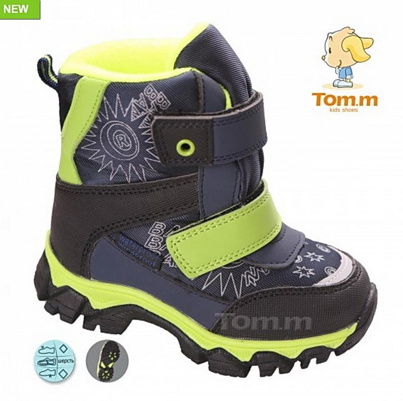 Зимние детские термо ботинки дутики tom.m 23-28