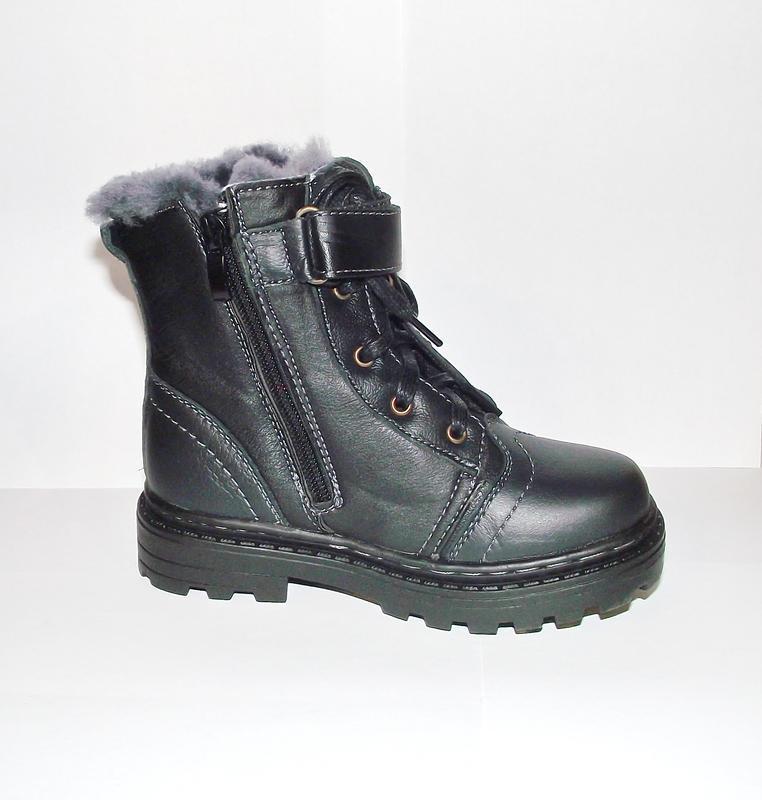 Отличные детские зимние кожаные ботинки 27-29