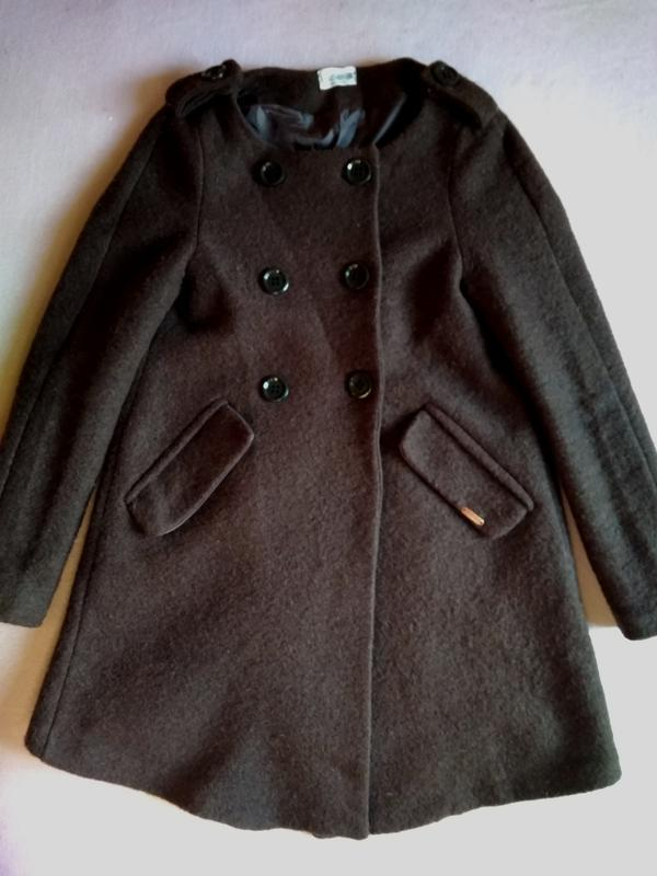 Осеннее пальто трапеция на пуговицах