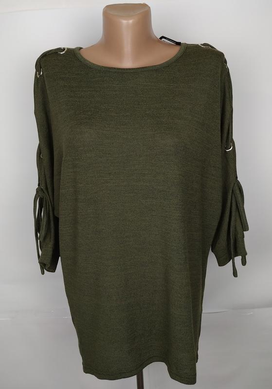 Блуза кофточка новая модная цвета хаки new look uk 10/38/s