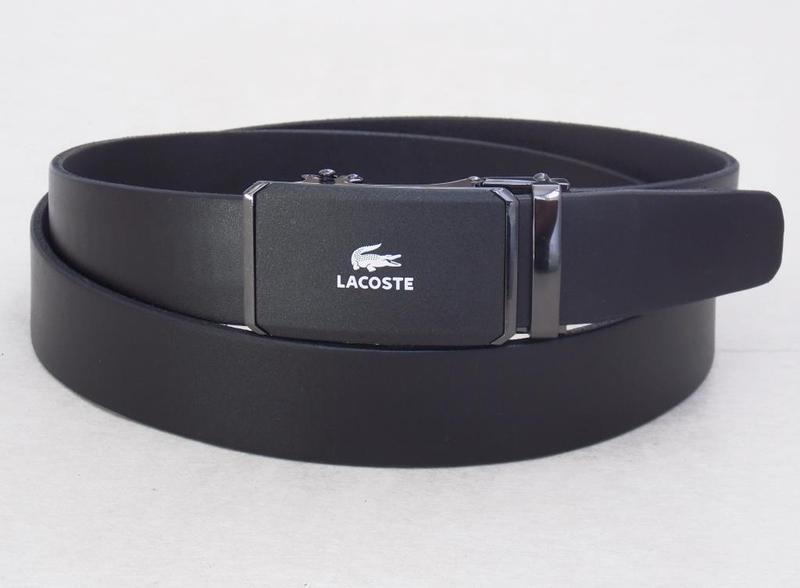 Мужской кожаный ремень lacoste пряжка-автомат
