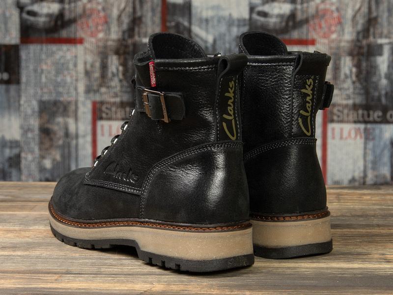 Зимние мужские ботинки clarks comfort топ качество