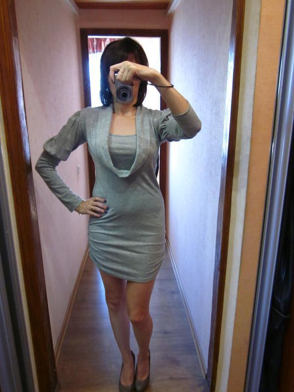 Платье трикотажное облегающее мини sabra турция