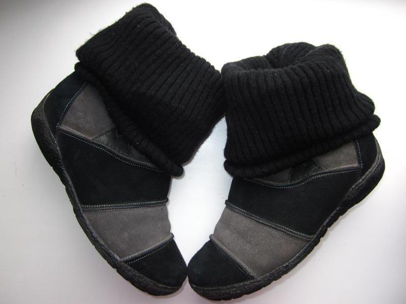 Ботинки зимние замшевые р.36_100% замш_полуботинки_сапожки