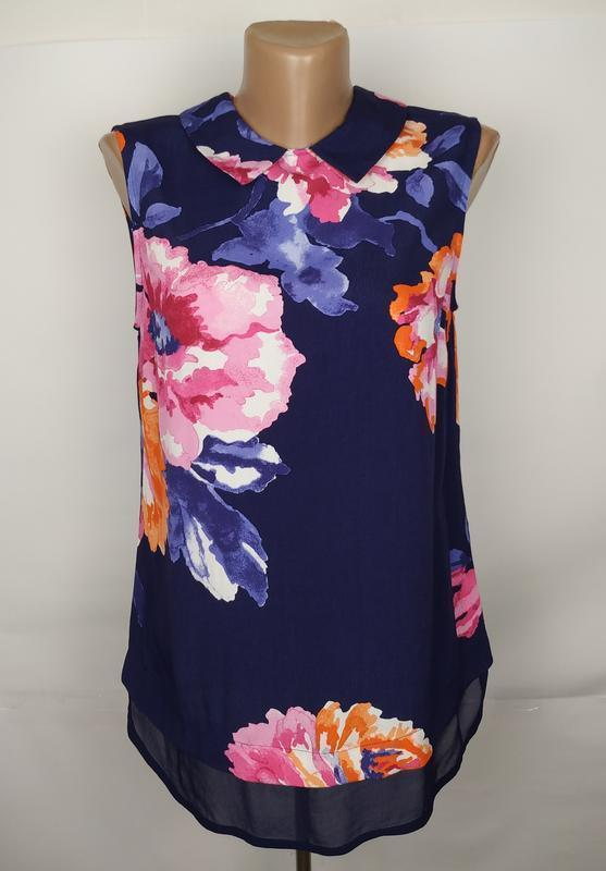 Блуза новая красивенная!!! в цветы штапиль 100% вискоза joules...