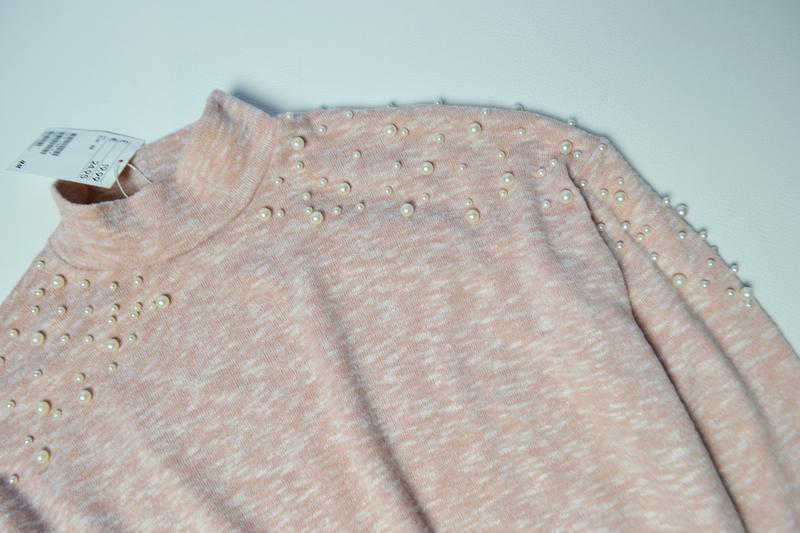 Красивый свитер кофта с жемчугами - Фото 3