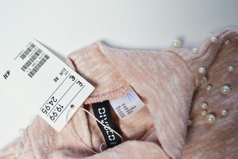 Красивый свитер кофта с жемчугами - Фото 4