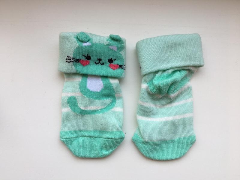 Носочки waikiki с ушками на 6-12 месяцев