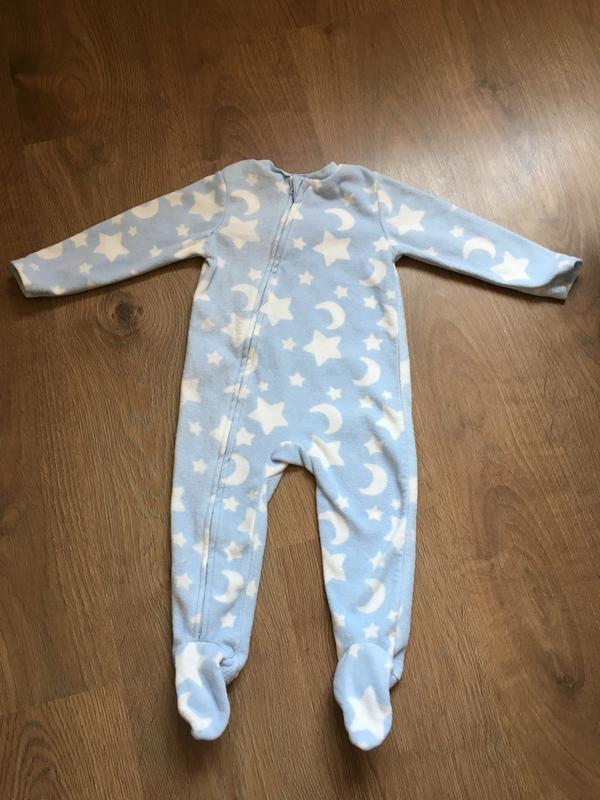 Теплющий голубой человечек с «тормозами» tu на 12-18 месяцев