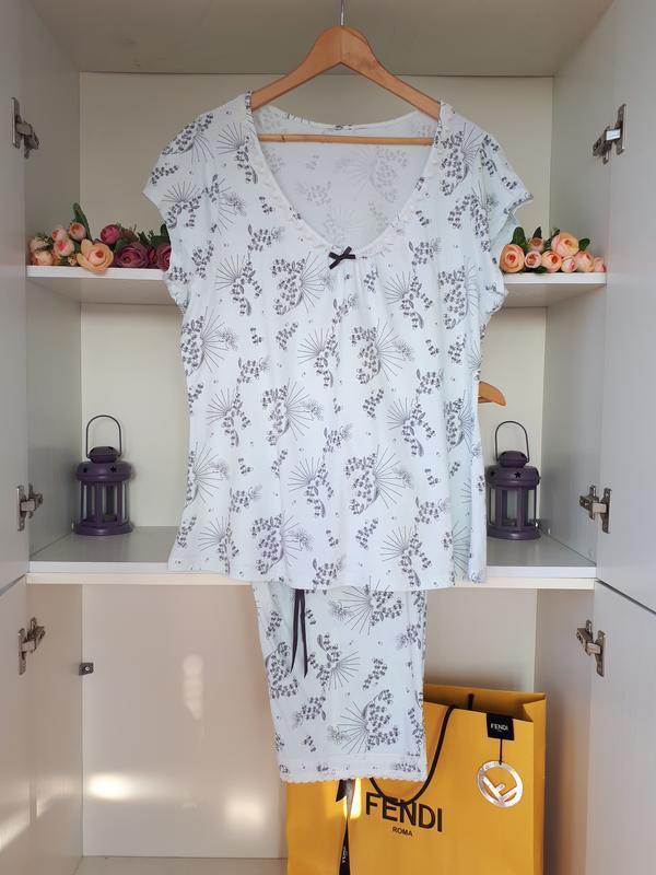 Хлопковая пижама presence debenhams