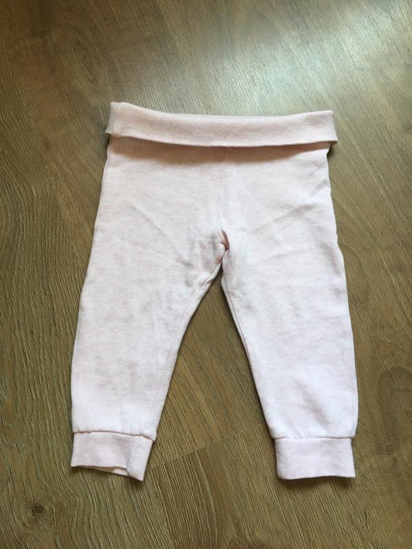 Нежно-розовые утепленные штанишки f&f на 9-12 месяцев